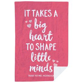 Personalized Teacher Premium Blanket - Big Heart Little Minds