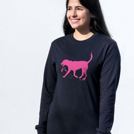 Soccer Tshirt Long Sleeve - Sasha the Soccer Dog