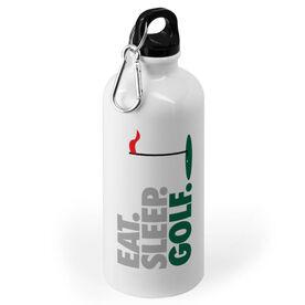 Golf 20 oz. Stainless Steel Water Bottle - Eat. Sleep. Golf.