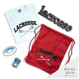 Guys Lacrosse Swag Bagz - Crossed Sticks
