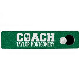 "Golf Aluminum Room Sign - Coach Golf (4""x18"")"