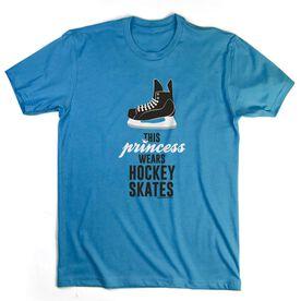 Hockey Tshirt Short Sleeve This Princess Wears Hockey Skates
