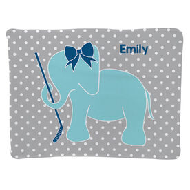 Hockey Baby Blanket - Hockey Elephant with Bow