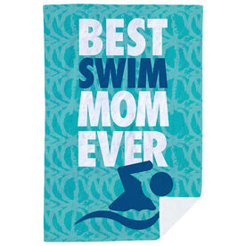 Swimming Premium Blanket - Best Mom Ever
