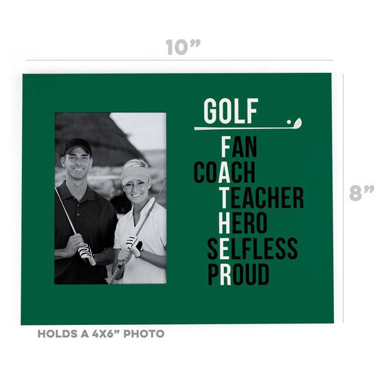Golf Photo Frame - Golf Father Words