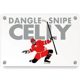 Hockey Metal Wall Art Panel - Dangle Snipe Celly