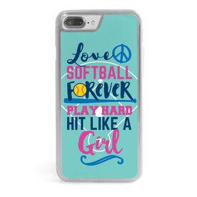 Softball iPhone® Case - Hit Like a Girl