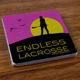 Endless Lacrosse (Female) - Natural Stone Coaster