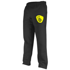 Softball Fleece Sweatpants Softball Mitt Number