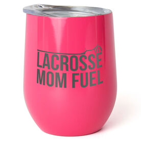 Guys Lacrosse Stainless Steel Wine Tumbler - Lacrosse Mom Fuel