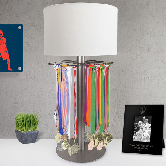 Guys Lacrosse Tabletop Medal Display Lamp