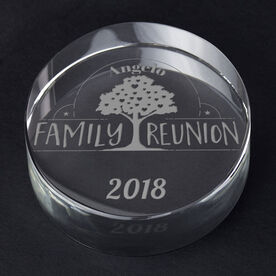 Personalized Engraved Crystal Gift - Family Reunion