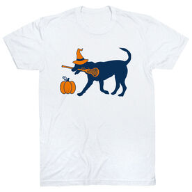 Girls Lacrosse Short Sleeve T-Shirt - Lula Witch Dog