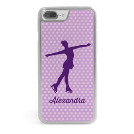 Figure Skating iPhone® Case - Personalized Figure Skater with Polka Dots