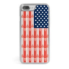 Guys Lacrosse iPhone® Case - USA Lacrosse Sticks Flag