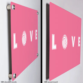 "Volleyball 18"" X 12"" Aluminum Room Sign - LOVE Volleyball"