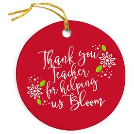 Teacher Porcelain Ornament - Bloom