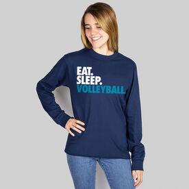 Volleyball T-Shirt Long Sleeve Eat. Sleep. Volleyball.
