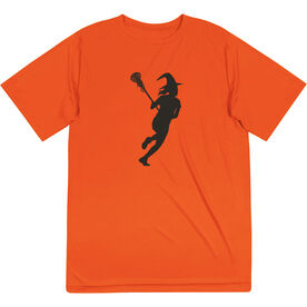 Girls Lacrosse Short Sleeve Performance Tee - Lax Witch