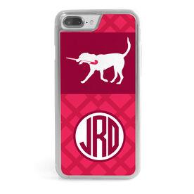Field Hockey iPhone® Case - Monogrammed Dog Weave