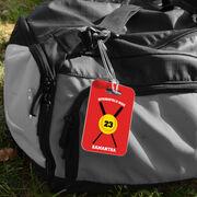 Softball Bag/Luggage Tag - Personalized Team Crossed Bats