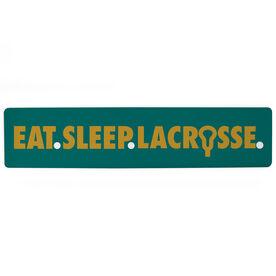 """Guys Lacrosse Aluminum Room Sign - Eat Sleep Lacrosse (4""""x18"""")"""