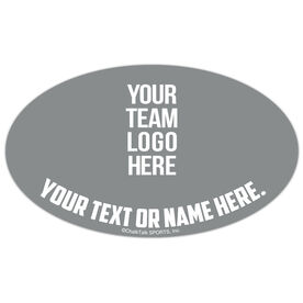 Cheer Oval Car Magnet Your Logo