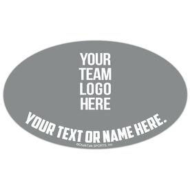 Figure Skating Oval Car Magnet Your Logo