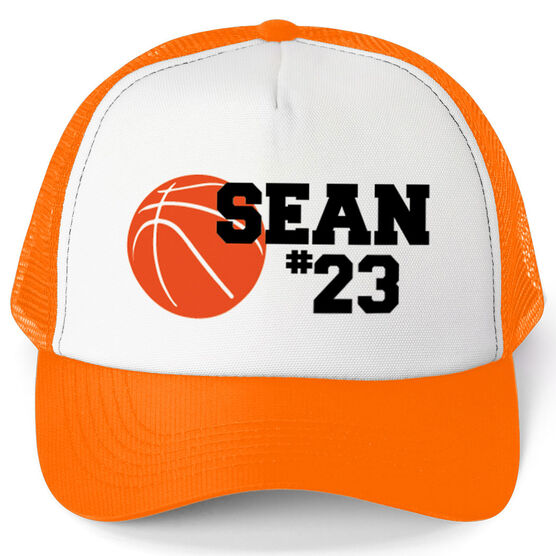 Basketball Trucker Hat Ball with Name