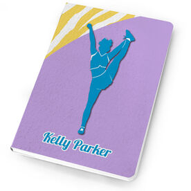 Cheerleading Notebook Personalized Cheerleader Silhouette