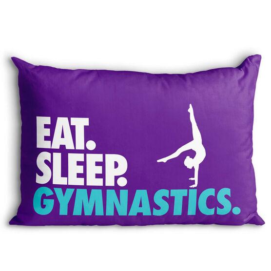 Gymnastics Pillowcase - Eat. Sleep. Gymnastics.