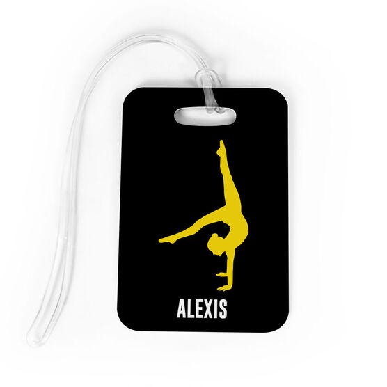 Gymnastics Bag/Luggage Tag - Personalized Gymnast Girl
