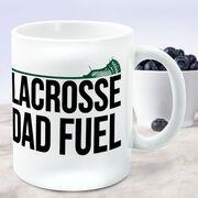 Guys Lacrosse Coffee Mug - Lacrosse Dad Fuel