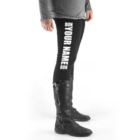 Running High Print Leggings - Run Your Name Run