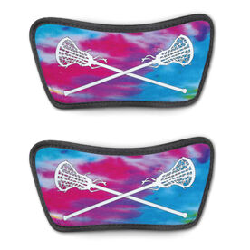 Girls Lacrosse Repwell™ Sandal Straps - Tie Dye With Crossed Sticks