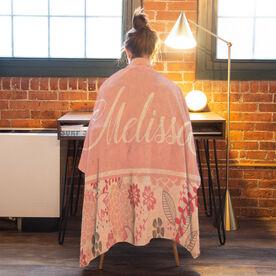 Personalized Premium Blanket - 2 Tone Floral