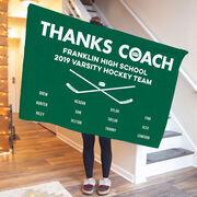 Hockey Premium Blanket - Thanks Coach (Horizontal)
