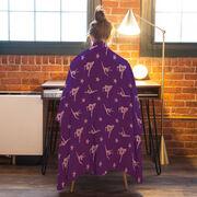 Gymnastics Premium Blanket - Gymnast Pattern