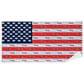 Hockey Premium Beach Towel - USA Flag