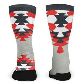 Customized Printed Mid Calf Team Socks Aztec