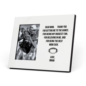 Football Photo Frame - Dear Mom Heart