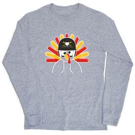 Baseball/Softball T-Shirt Long Sleeve - Goofy Turkey Player