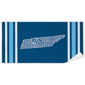 Running Premium Beach Towel - Tennessee State Runner