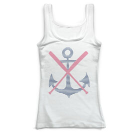 Softball Vintage Fitted Tank Top - Weigh Anchor