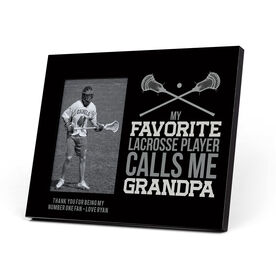 Guys Lacrosse Photo Frame - Grandpa
