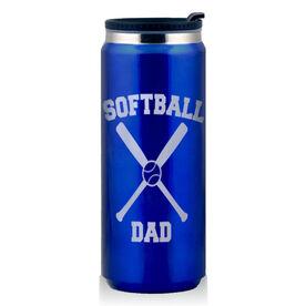 Stainless Steel Travel Mug Softball Dad