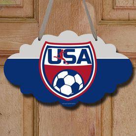 Soccer Cloud Sign USA Soccer