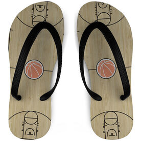 Basketball Flip Flops Court