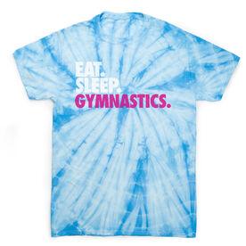 Gymnastics Short Sleeve T-Shirt - Eat. Sleep. Gymnastics Tie Dye