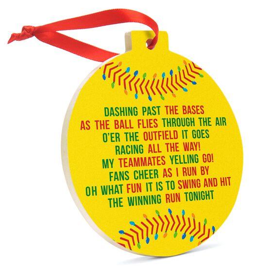 Softball Round Ceramic Ornament - Jingle All the Way
